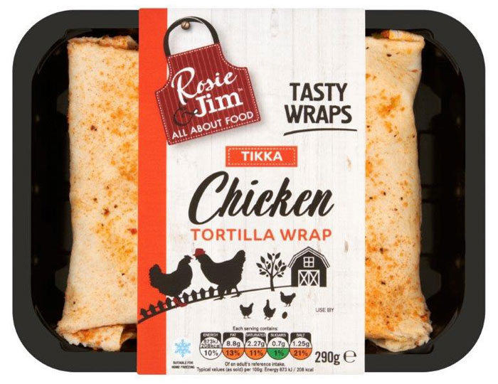 Tikka Chicken Wrap Tray