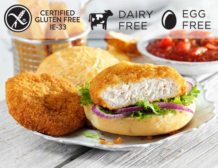 Breaded Chicken Burger - gluten free