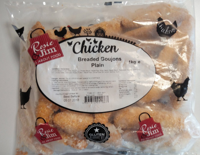 Rosie & Jim Chicken Goujons Bagged