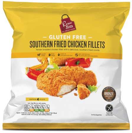 Rosie & Jim Gluten Free Southern Fried Chicken Fillet - Frozen Bag